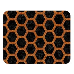 Hexagon2 Black Marble & Rusted Metal (r) Double Sided Flano Blanket (large)