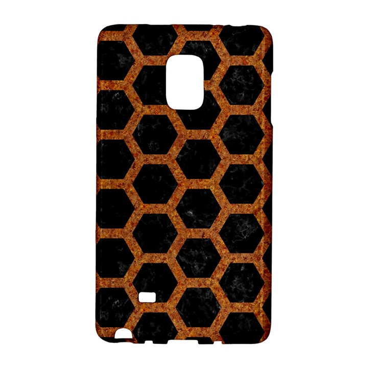 HEXAGON2 BLACK MARBLE & RUSTED METAL (R) Galaxy Note Edge