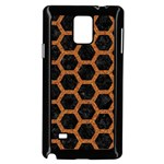 HEXAGON2 BLACK MARBLE & RUSTED METAL (R) Samsung Galaxy Note 4 Case (Black) Front