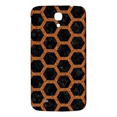 Hexagon2 Black Marble & Rusted Metal (r) Samsung Galaxy Mega I9200 Hardshell Back Case