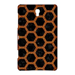 Hexagon2 Black Marble & Rusted Metal (r) Samsung Galaxy Tab S (8 4 ) Hardshell Case