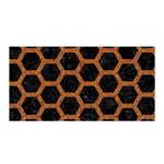 HEXAGON2 BLACK MARBLE & RUSTED METAL (R) Satin Wrap Front