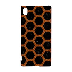 Hexagon2 Black Marble & Rusted Metal (r) Sony Xperia Z3+