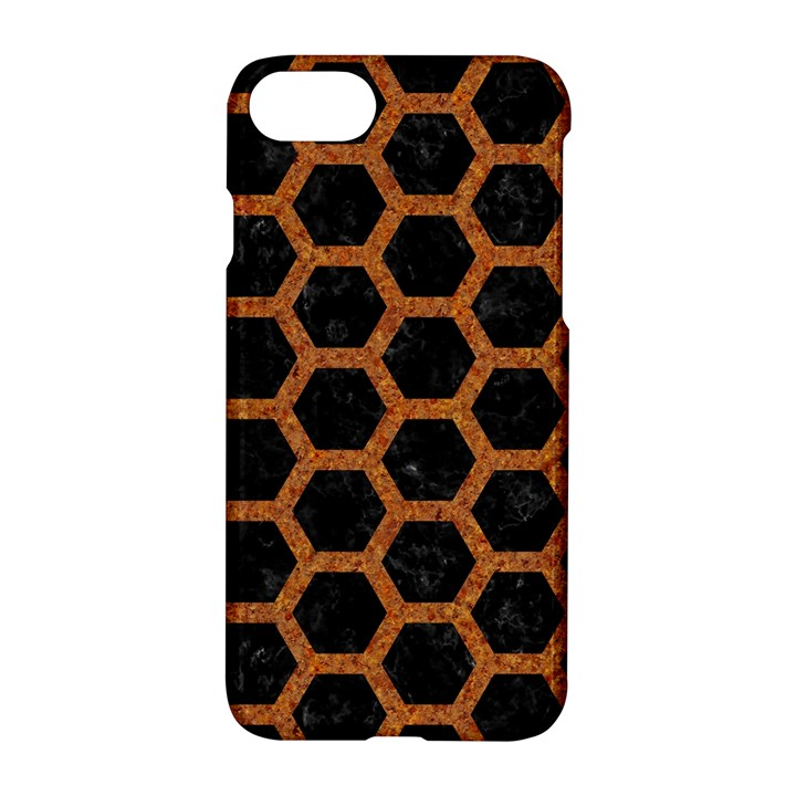 HEXAGON2 BLACK MARBLE & RUSTED METAL (R) Apple iPhone 7 Hardshell Case
