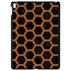 Hexagon2 Black Marble & Rusted Metal (r) Apple Ipad Pro 9 7   Black Seamless Case