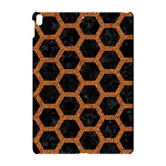 Hexagon2 Black Marble & Rusted Metal (r) Apple Ipad Pro 10 5   Hardshell Case