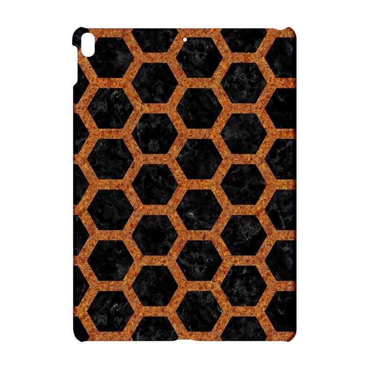 HEXAGON2 BLACK MARBLE & RUSTED METAL (R) Apple iPad Pro 10.5   Hardshell Case