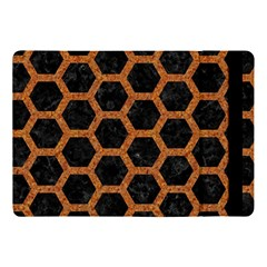 Hexagon2 Black Marble & Rusted Metal (r) Apple Ipad Pro 10 5   Flip Case