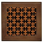 PUZZLE1 BLACK MARBLE & RUSTED METAL Framed Tiles Front