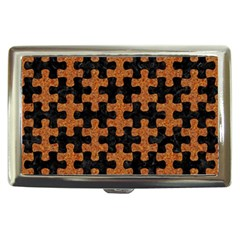 Puzzle1 Black Marble & Rusted Metal Cigarette Money Cases