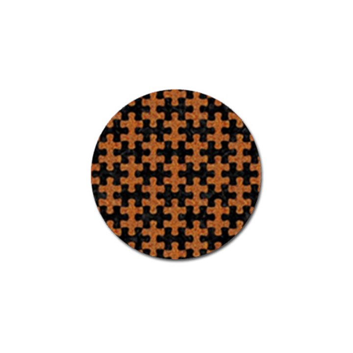 PUZZLE1 BLACK MARBLE & RUSTED METAL Golf Ball Marker (4 pack)