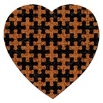 PUZZLE1 BLACK MARBLE & RUSTED METAL Jigsaw Puzzle (Heart) Front