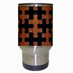 PUZZLE1 BLACK MARBLE & RUSTED METAL Travel Mugs (White) Center