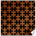 PUZZLE1 BLACK MARBLE & RUSTED METAL Canvas 12  x 12   12 x12 Canvas - 1