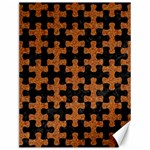 PUZZLE1 BLACK MARBLE & RUSTED METAL Canvas 12  x 16   16 x12 Canvas - 1