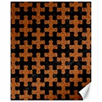 PUZZLE1 BLACK MARBLE & RUSTED METAL Canvas 16  x 20   20 x16 Canvas - 1