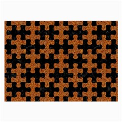 Puzzle1 Black Marble & Rusted Metal Large Glasses Cloth (2 Side)