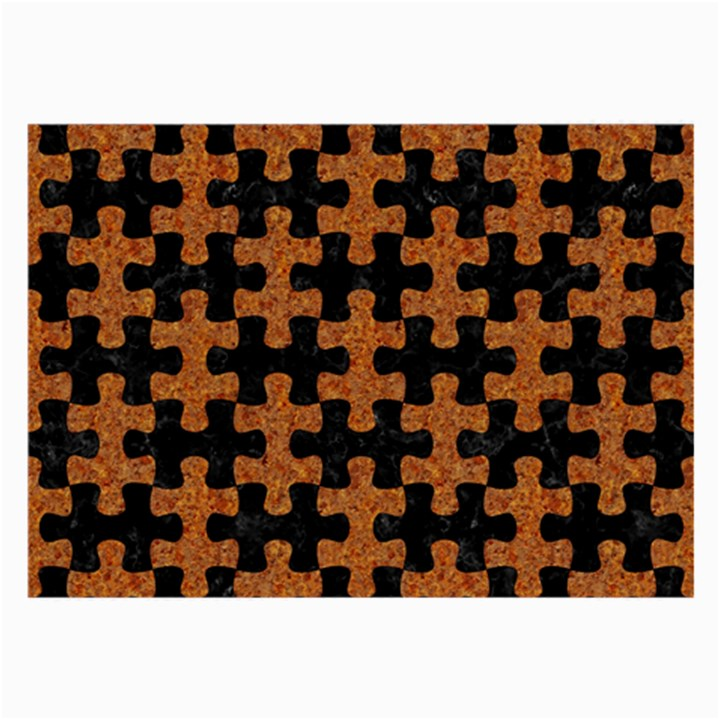 PUZZLE1 BLACK MARBLE & RUSTED METAL Large Glasses Cloth (2-Side)