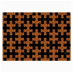 PUZZLE1 BLACK MARBLE & RUSTED METAL Large Glasses Cloth (2-Side) Back