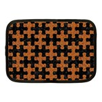 PUZZLE1 BLACK MARBLE & RUSTED METAL Netbook Case (Medium)  Front