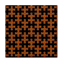 Puzzle1 Black Marble & Rusted Metal Face Towel