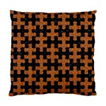 PUZZLE1 BLACK MARBLE & RUSTED METAL Standard Cushion Case (Two Sides) Front