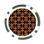 PUZZLE1 BLACK MARBLE & RUSTED METAL Poker Chip Card Guard (10 pack) Front