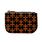 PUZZLE1 BLACK MARBLE & RUSTED METAL Mini Coin Purses Front