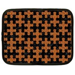 PUZZLE1 BLACK MARBLE & RUSTED METAL Netbook Case (XL)  Front