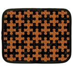 PUZZLE1 BLACK MARBLE & RUSTED METAL Netbook Case (XXL)  Front