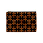 PUZZLE1 BLACK MARBLE & RUSTED METAL Cosmetic Bag (Medium)  Front