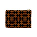 PUZZLE1 BLACK MARBLE & RUSTED METAL Cosmetic Bag (Medium)  Back