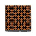 PUZZLE1 BLACK MARBLE & RUSTED METAL Memory Card Reader (Square) Front