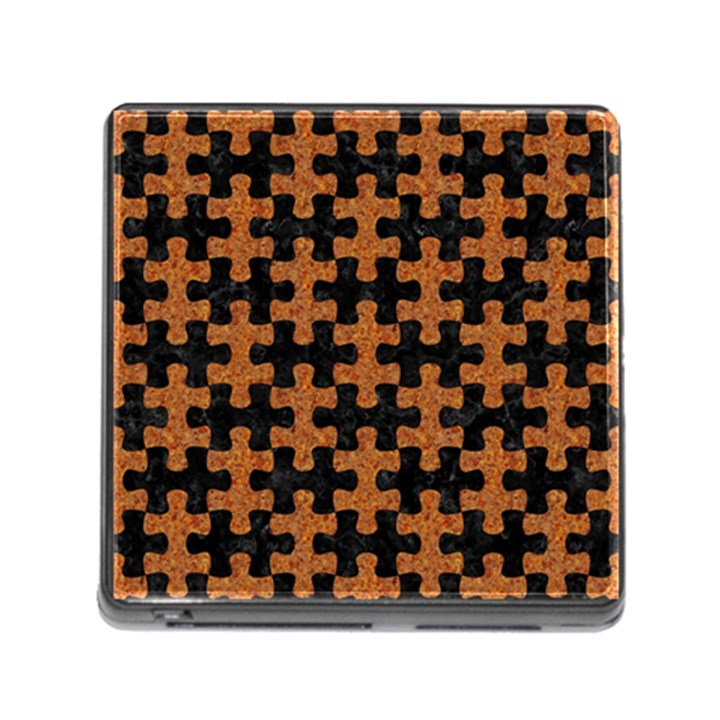 PUZZLE1 BLACK MARBLE & RUSTED METAL Memory Card Reader (Square)
