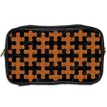PUZZLE1 BLACK MARBLE & RUSTED METAL Toiletries Bags 2-Side Back