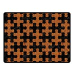 PUZZLE1 BLACK MARBLE & RUSTED METAL Fleece Blanket (Small) 50 x40 Blanket Front