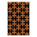 PUZZLE1 BLACK MARBLE & RUSTED METAL Shower Curtain 48  x 72  (Small)  42.18 x64.8 Curtain