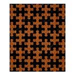 PUZZLE1 BLACK MARBLE & RUSTED METAL Shower Curtain 60  x 72  (Medium)  54.25 x65.71 Curtain