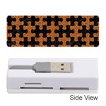 PUZZLE1 BLACK MARBLE & RUSTED METAL Memory Card Reader (Stick)  Front