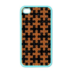 Puzzle1 Black Marble & Rusted Metal Apple Iphone 4 Case (color)