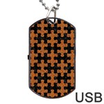 PUZZLE1 BLACK MARBLE & RUSTED METAL Dog Tag USB Flash (Two Sides) Front
