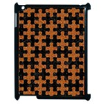 PUZZLE1 BLACK MARBLE & RUSTED METAL Apple iPad 2 Case (Black) Front