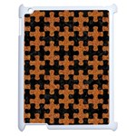 PUZZLE1 BLACK MARBLE & RUSTED METAL Apple iPad 2 Case (White) Front