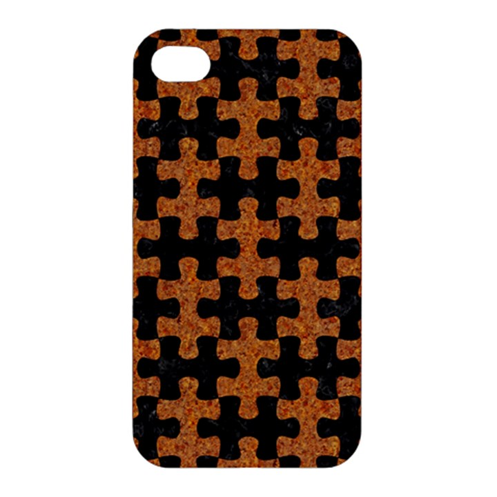 PUZZLE1 BLACK MARBLE & RUSTED METAL Apple iPhone 4/4S Hardshell Case