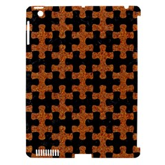 Puzzle1 Black Marble & Rusted Metal Apple Ipad 3/4 Hardshell Case (compatible With Smart Cover)
