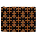 PUZZLE1 BLACK MARBLE & RUSTED METAL Cosmetic Bag (XXL)  Front