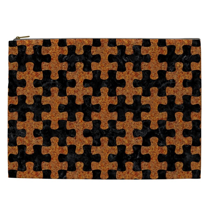 PUZZLE1 BLACK MARBLE & RUSTED METAL Cosmetic Bag (XXL)