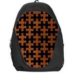 PUZZLE1 BLACK MARBLE & RUSTED METAL Backpack Bag Front