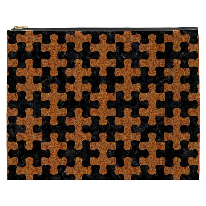 PUZZLE1 BLACK MARBLE & RUSTED METAL Cosmetic Bag (XXXL)