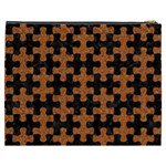 PUZZLE1 BLACK MARBLE & RUSTED METAL Cosmetic Bag (XXXL)  Back